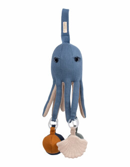 Otto the octopus fra Filibabba - Muddly blue(Touch and play)