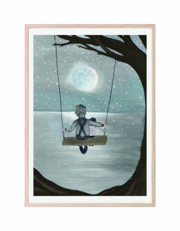 That´s mine plakat - Swinging in the moonlight(30x40cm)