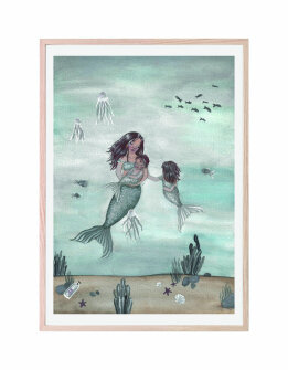 That´s mine plakat - Mermaid fairytale(30x40cm)