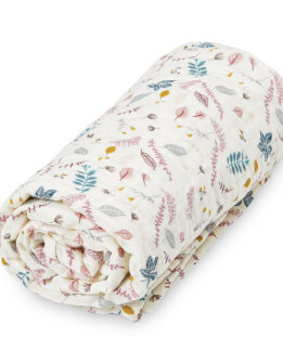 Cam Cam muslin blanket - Leaves rose